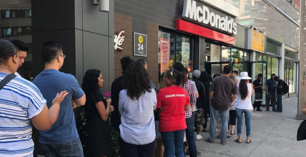 67¢ hamburgers incite mayhem at McDonald's across Canada today (PHOTOS)