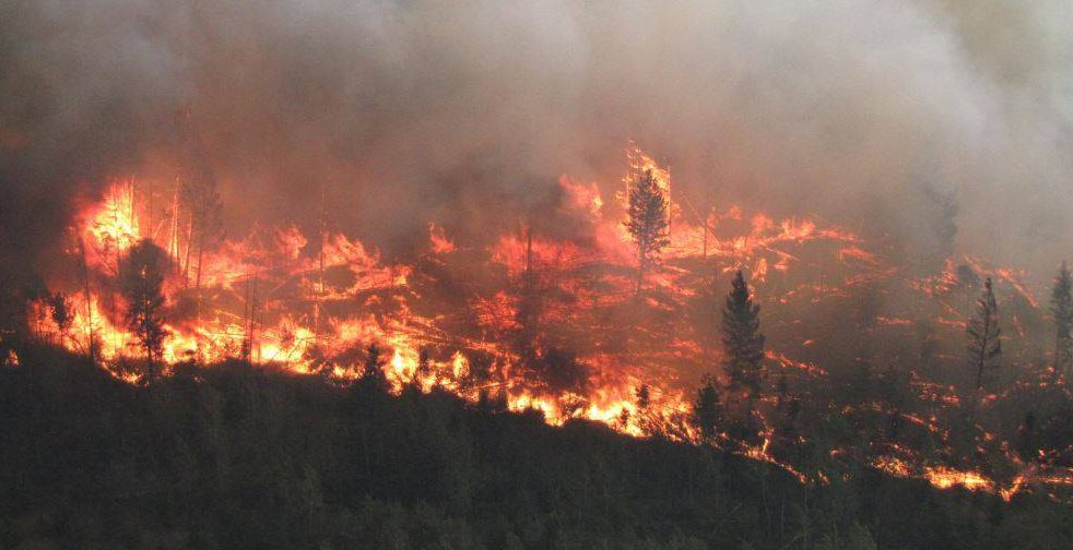 One of the wildfires burning in british columbia bc wildfire service facebook