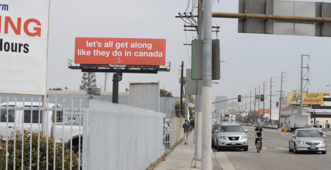 LA billboard praising Canada blowing up online again