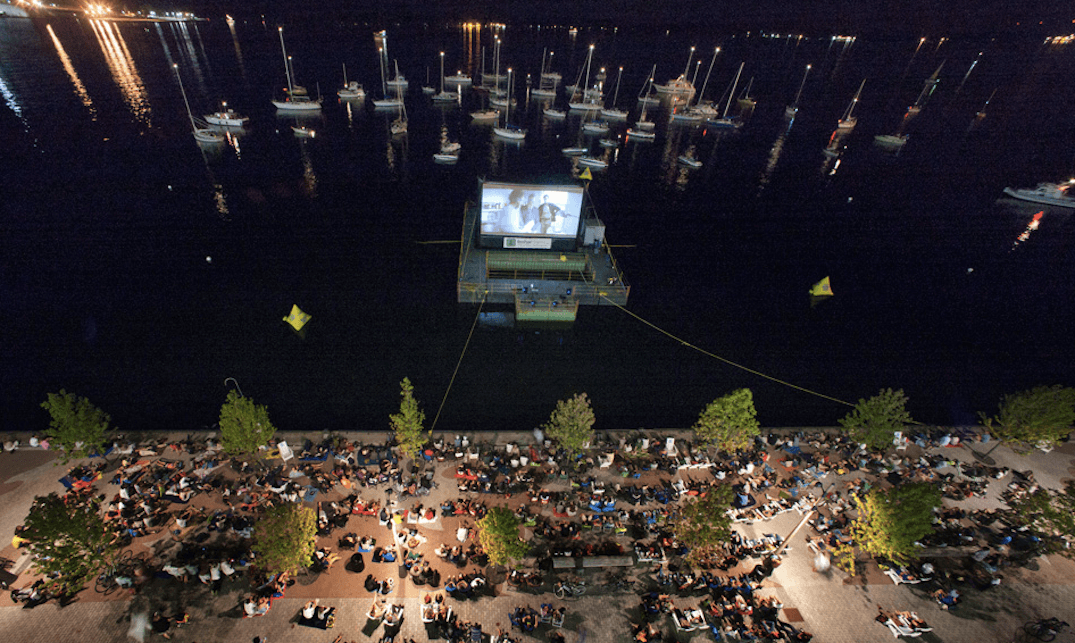 You can watch a movie at Toronto's only outdoor floating theatre tonight