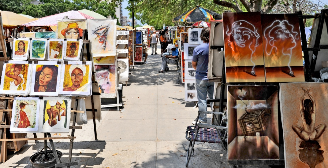 There's a free art market in downtown Vancouver and it's on every Sunday