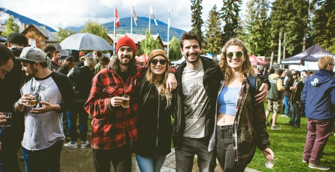 Groupimage whistler village beer festival
