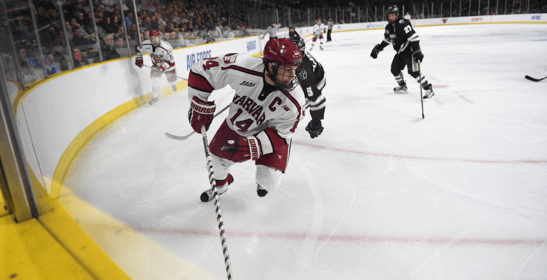 Report: College free agent Alex Kerfoot meets with Canucks management