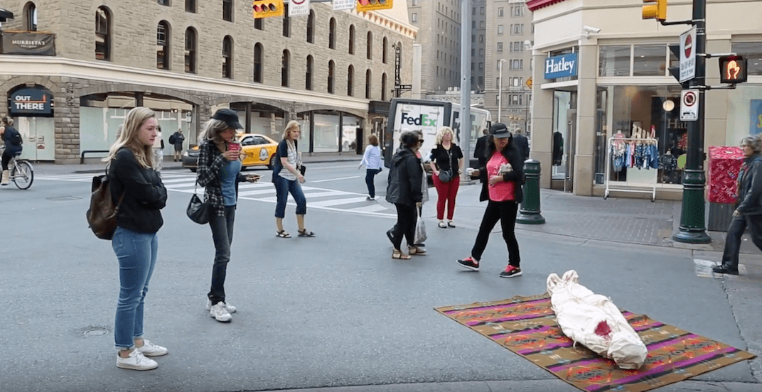 Deadly guerrilla art pops up around downtown Calgary (VIDEO)
