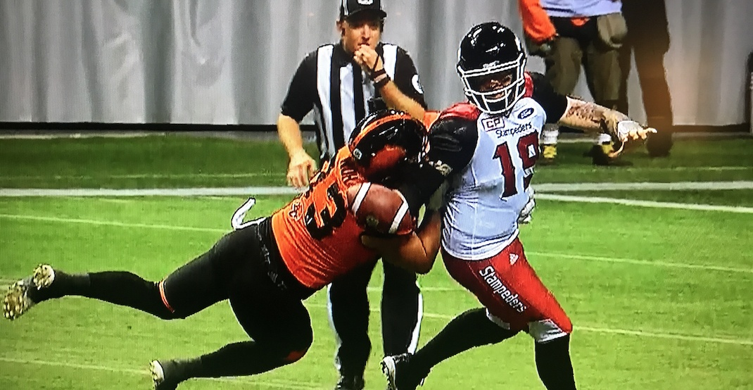 Horse collar penalty stirs up controversy in BC Lions loss (VIDEO)