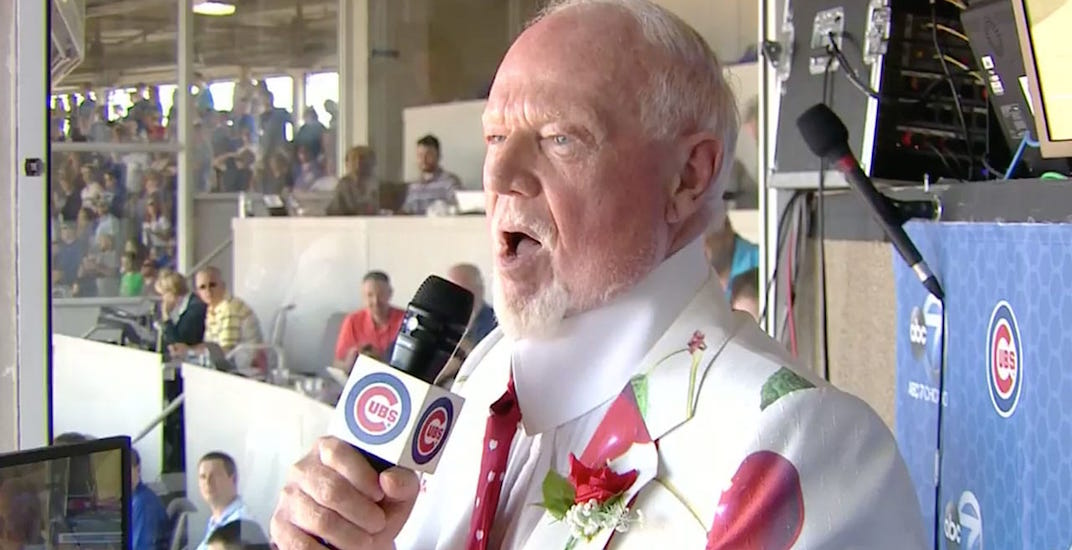 Don Cherry sings 'Take Me Out to the Ball Game' at Blue Jays game in Chicago (VIDEO)