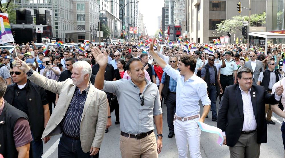 18 photos and videos of Justin Trudeau walking in the Montreal Pride Parade