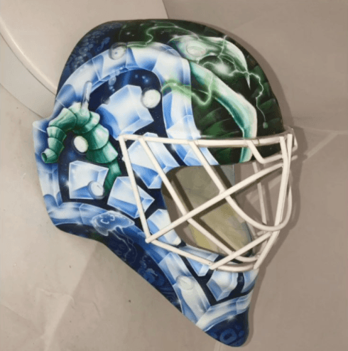 Canucks prospect Demko has a picture of Will Ferrell on his goalie mask again (PHOTOS)