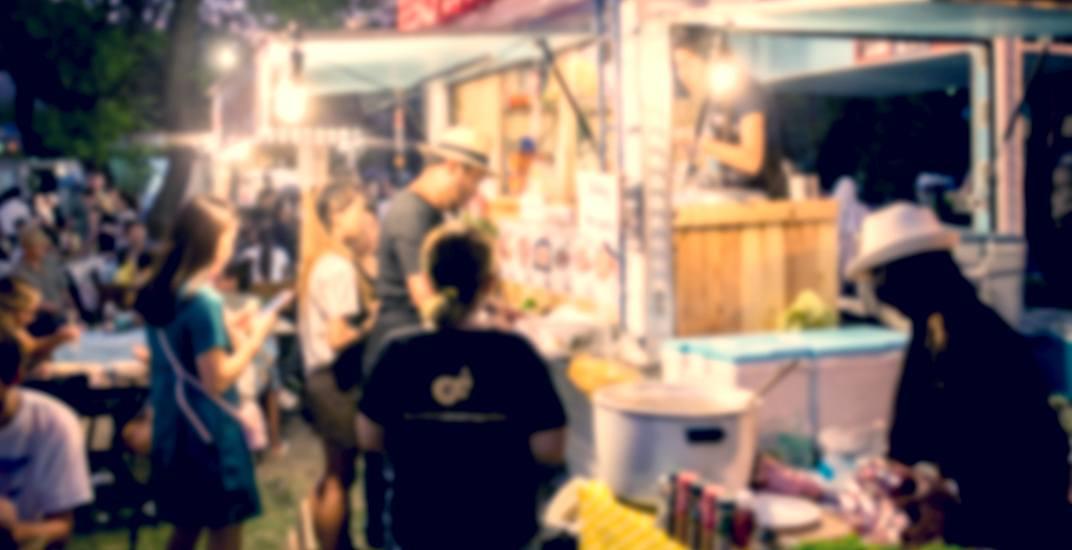 Food truck blur