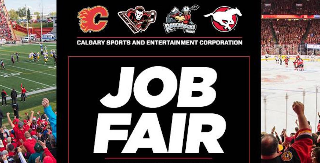 Calgary Sports & Entertainment Job Fair happening Tuesday, August 22