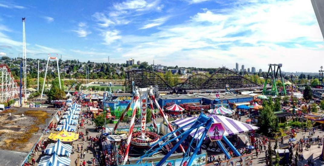 Pne playland aerial
