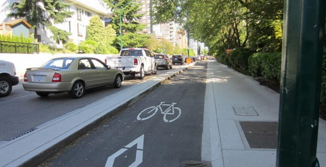 Vancouver bike lane pacific street