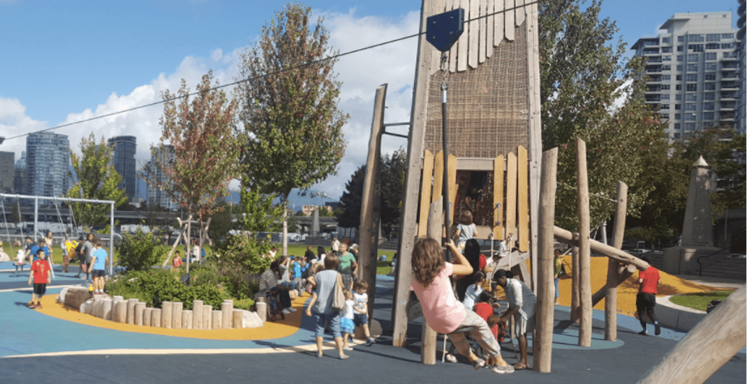 Vancouver's new largest playground includes a zipline