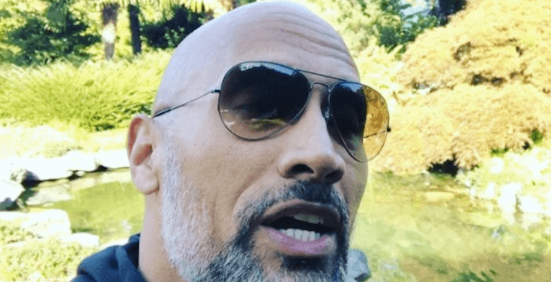 The Rock invites 10-year-old 'real-life hero' to his Vancouver movie set (VIDEO)