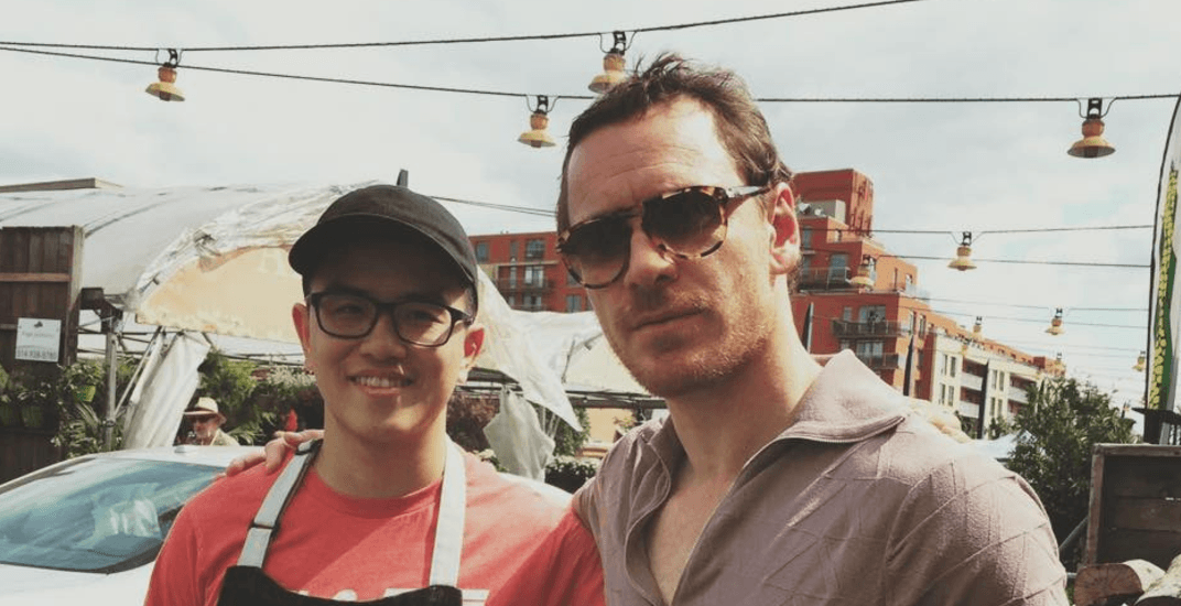 Michael Fassbender spotted taking pictures with fans in Montreal (PHOTOS)