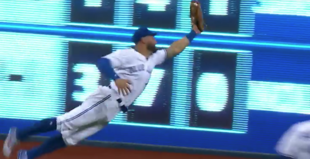 Kevin Pillar goes full Superman for arguably his best-ever catch (VIDEO)