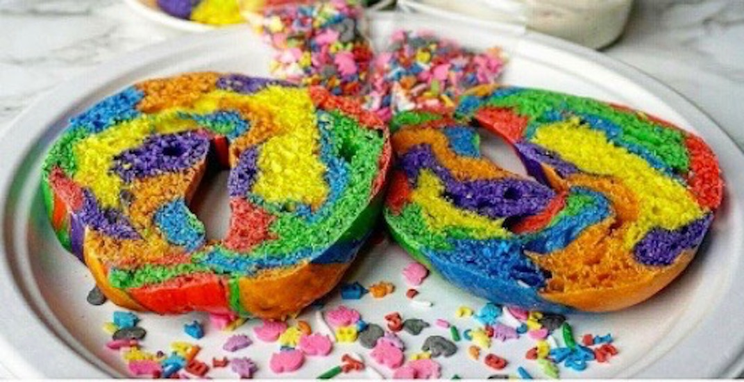 These rainbow bagels are the best way to start your Pride celebrations