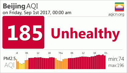 Beijing's current air quality is less than Calgary's max pollution (aqicn.org)