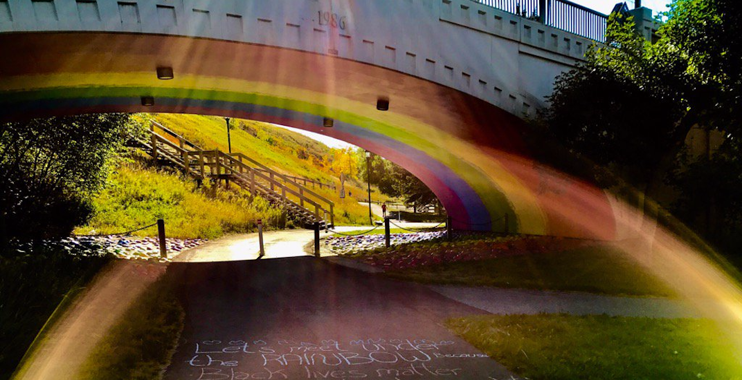 This rainbow bridge by Riley Park has been taking over Instagram