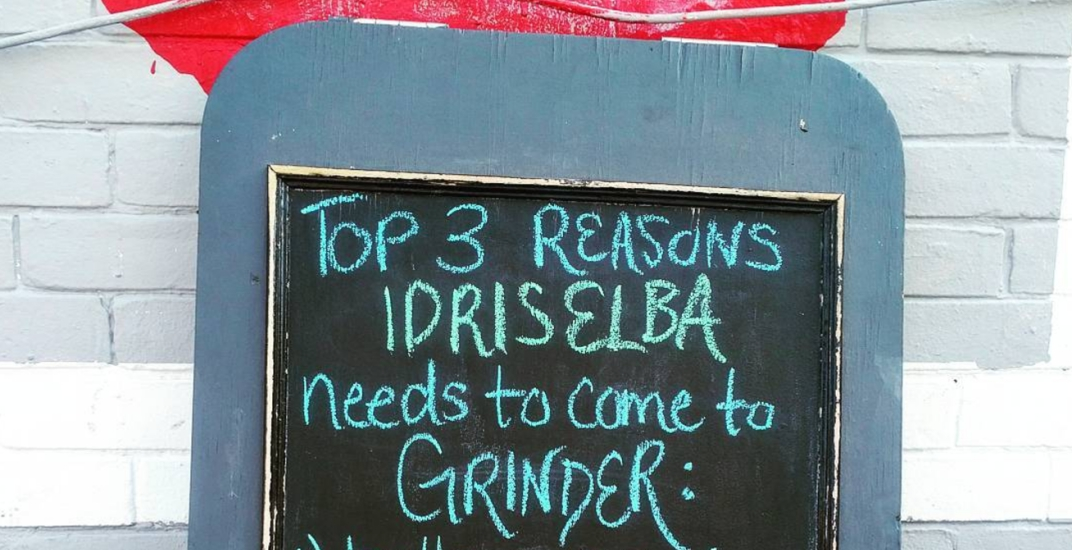 This Toronto coffee shop REALLY wants Idris Elba to stop by during TIFF