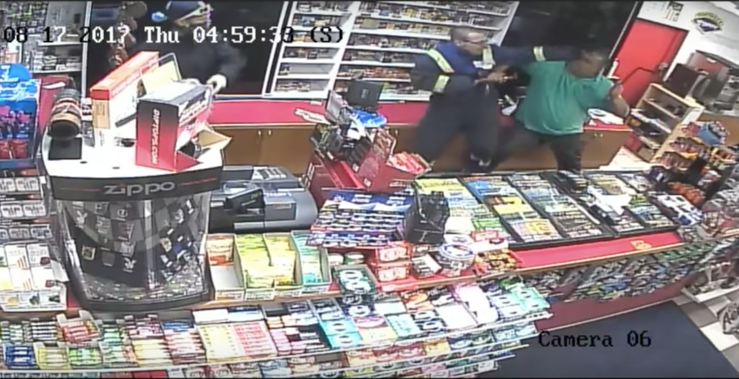 Brave Calgary convenience store clerk holds off robbers until police arrive (VIDEO)