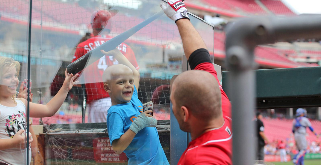 Joey Votto gives bat, jersey to boy who has cancer (PHOTOS/VIDEO)