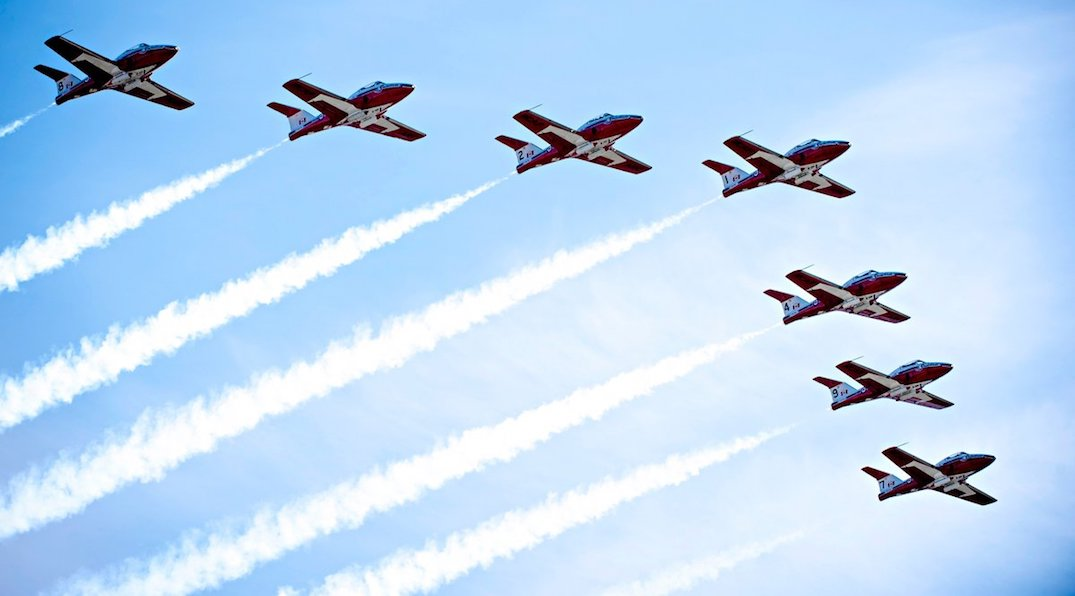 Royal Canadian Air Force to perform flybys over downtown Toronto today