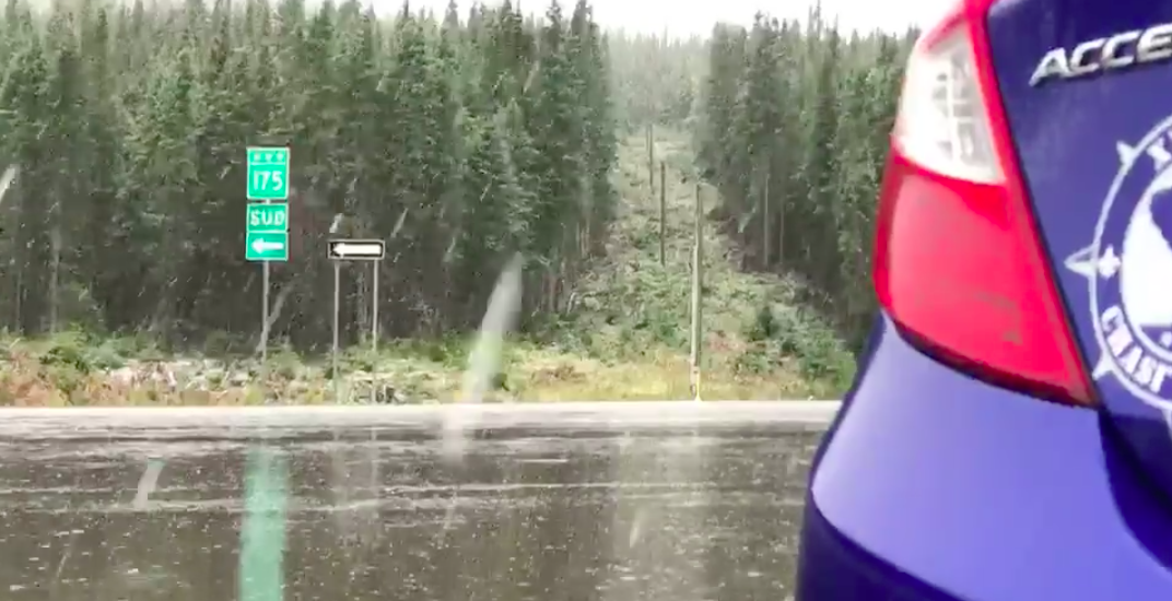 It's only September and snow is already falling in Quebec (VIDEO)