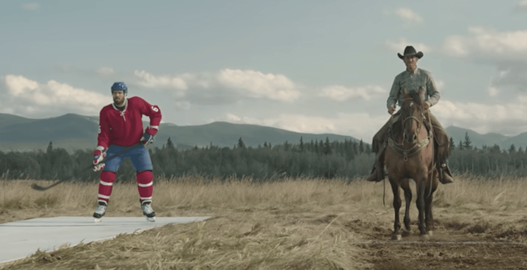 Shea Weber races a horse in bizarre new commercial (VIDEO)
