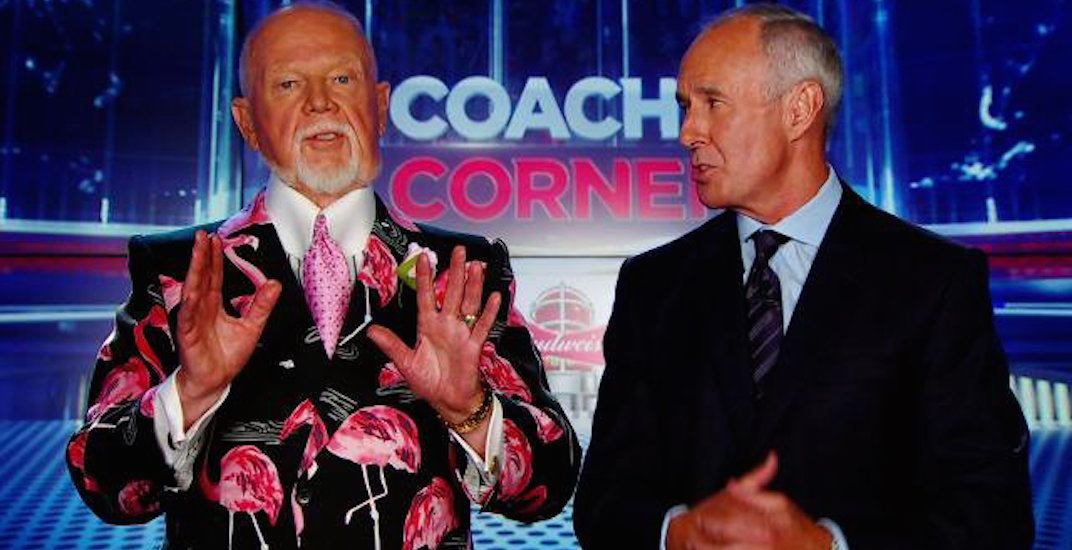 Don Cherry is worried that Canadians have stopped taking their shoes off