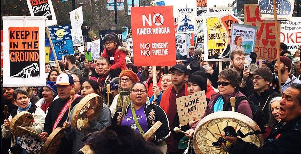 A protest against the kinder morgan pipeline expansion coast protectorsfacebook