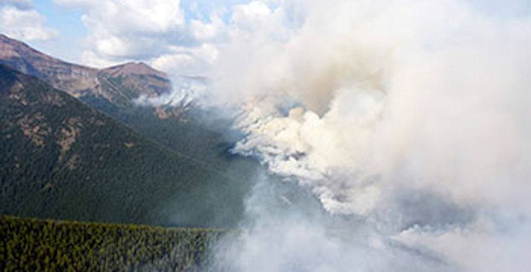 The Waterton wildfire has burned nearly 10,000 hectares in southwest Alberta