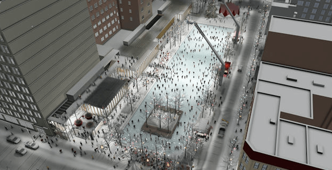 Ground broken on Montreal's massive new downtown skating rink (PHOTOS)
