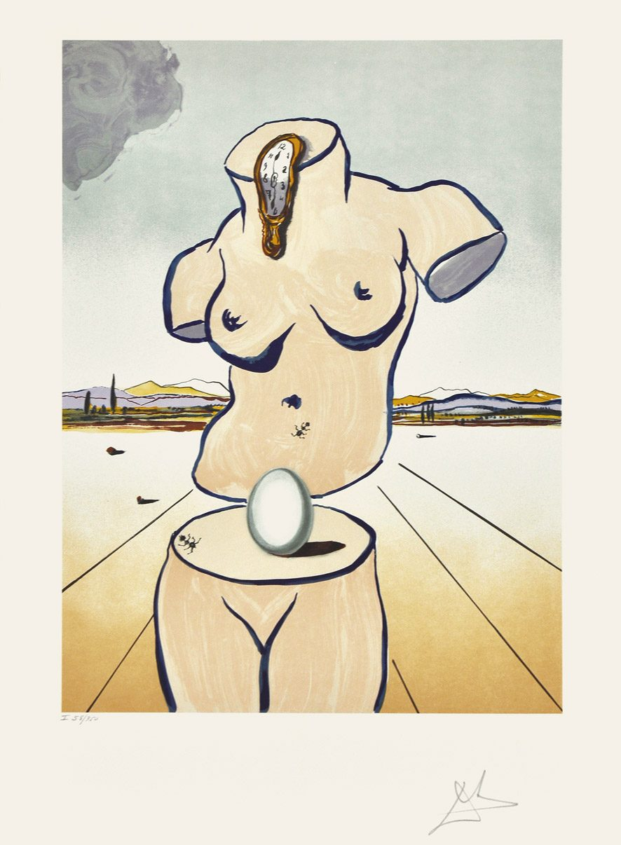 Birth of Venus artwork by Salvador Dalí (Chali-Rosso Gallery)