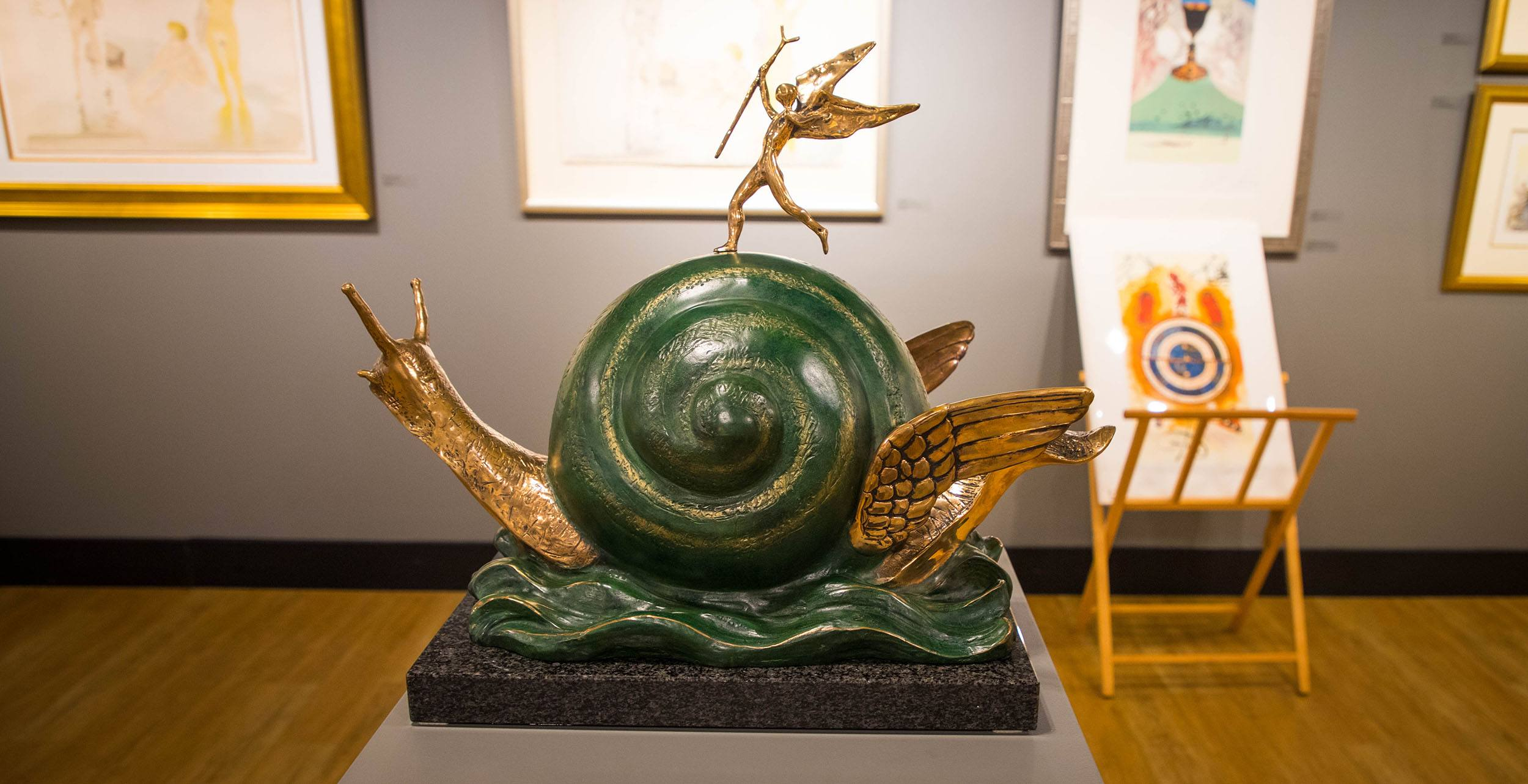 The Snail and the Angel sculpture by Salvador Dalí (Jenni Sheppard/Daily Hive)