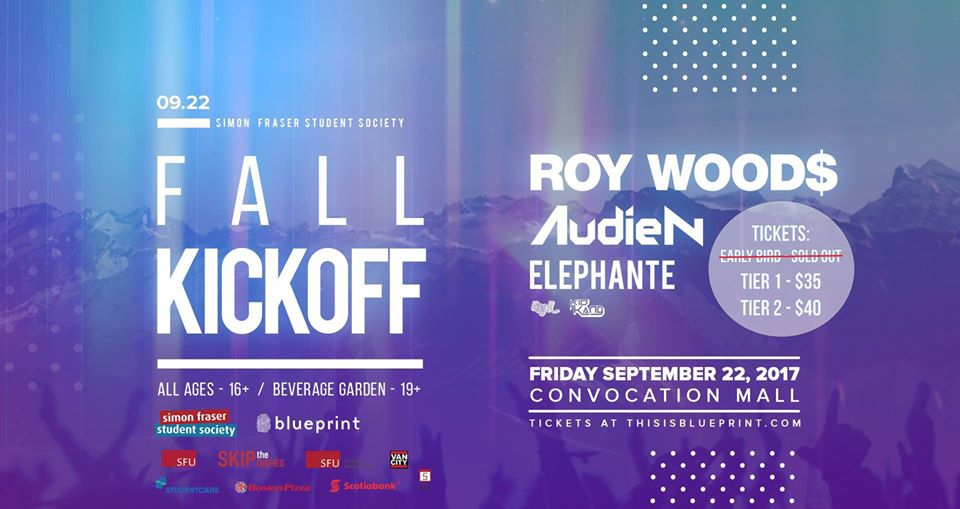 See roy woods elephante and audien at sfus 2017 fall kickoff the 2017 sfss fall kick off concert malvernweather Gallery