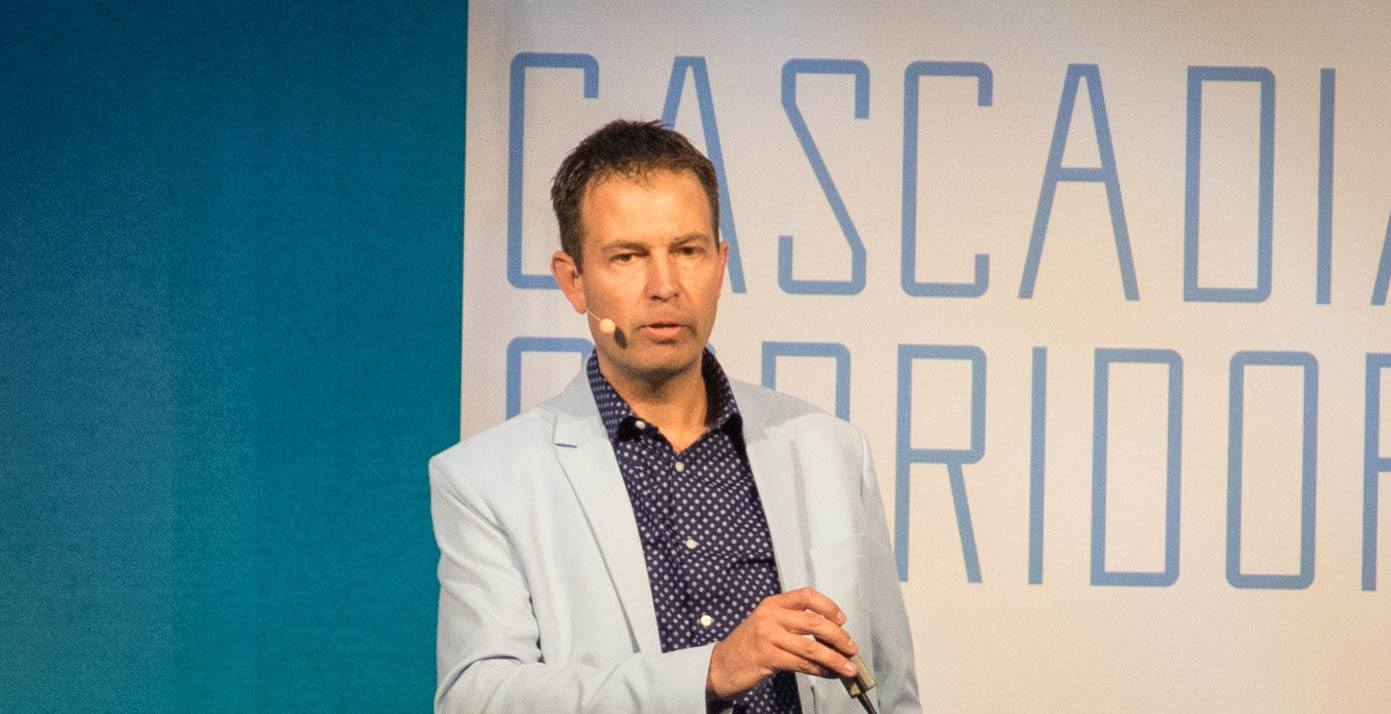 BuildDirect President and CEO at the Cascadia Conference 2017 (Jenni Sheppard/Daily Hive)
