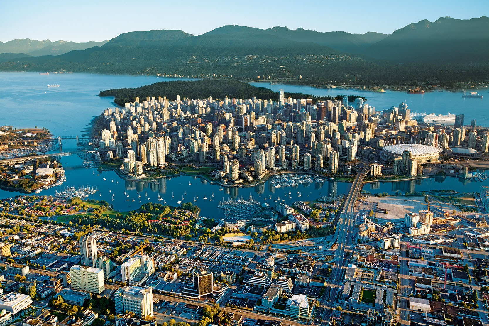Just another beautiful Vancouver aerial shot (Vancouver Economic Commission)