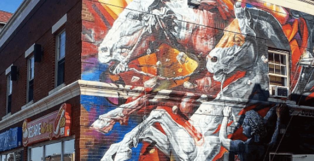 Take a look at Saint-Laurent's newest Greek mythology mural (PHOTOS)