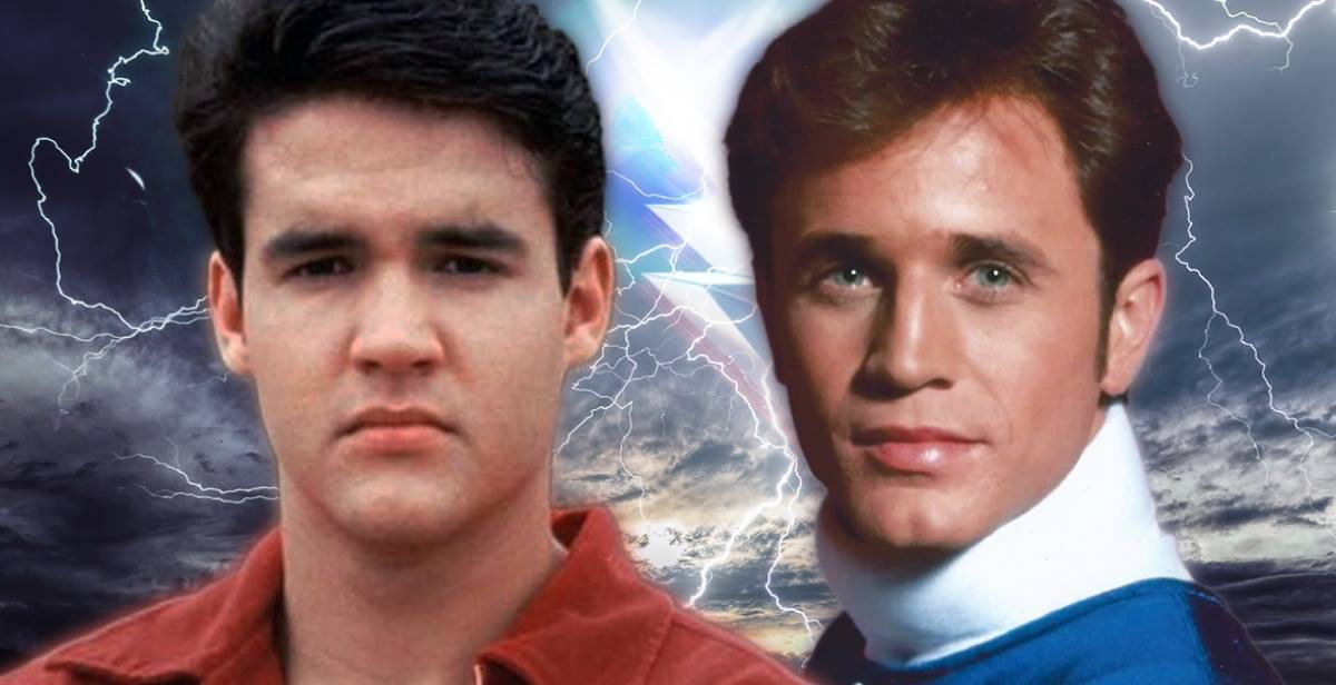 Austin st. john who played the original red power ranger and david yost who played the blue power ranger fan expo vancouver