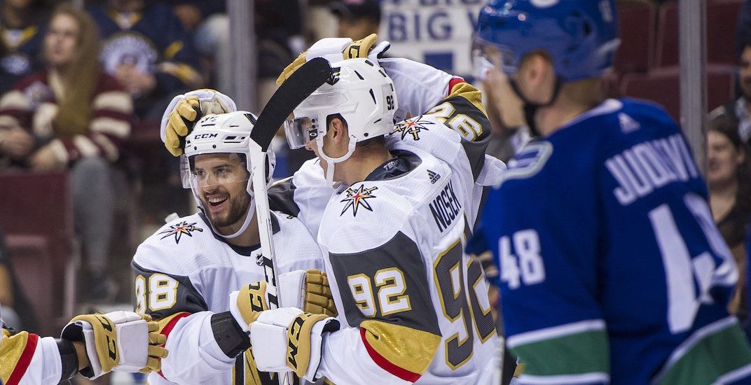 Vegas scores 9 goals against Canucks in their first-ever game