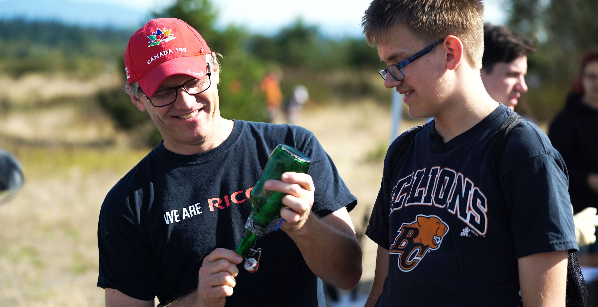 Shoreline cleanup volunteers uncork the message in a bottle on iona beach ocean wise copy