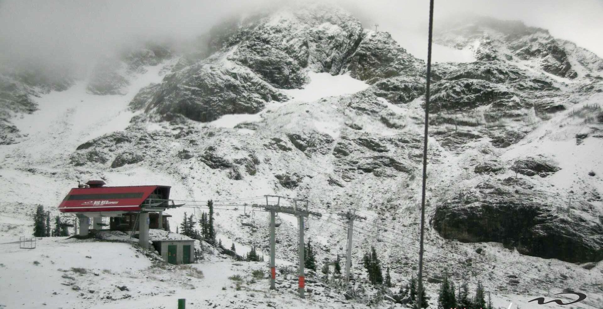 Snow on whistlerblackcomb as of september 18 2017 whistlerblackcomb1