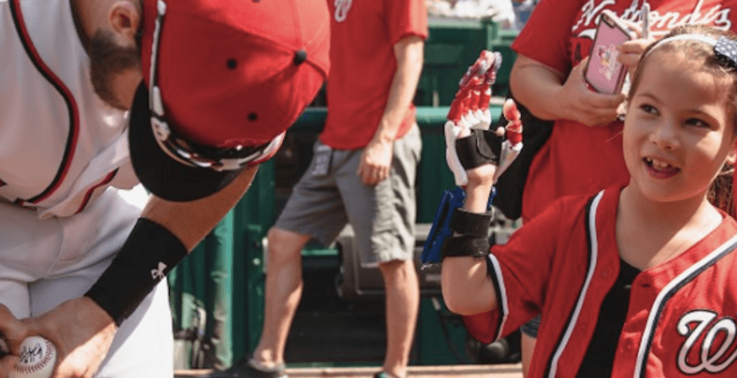 7-year-old with 3-D printed hand to throw out the first pitch at Blue Jays game