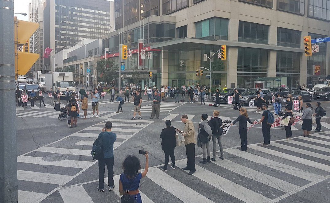 Black Lives Matter shut down Yonge and Bloor this morning