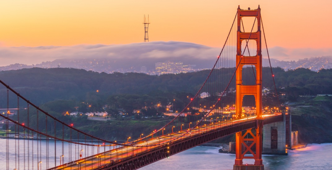 You can fly from Vancouver to San Francisco, California for $270 roundtrip