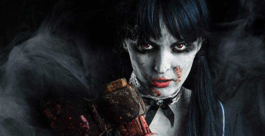 Woman with an axe (Playland Fright Nights)