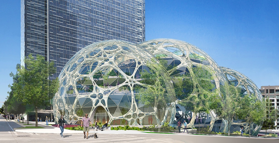 Amazon seattle campus biospheres