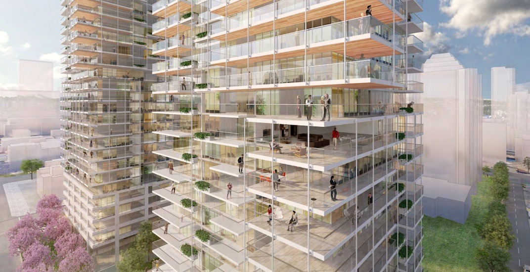 Two condo towers with 'outdoor living space' concept proposed for West End