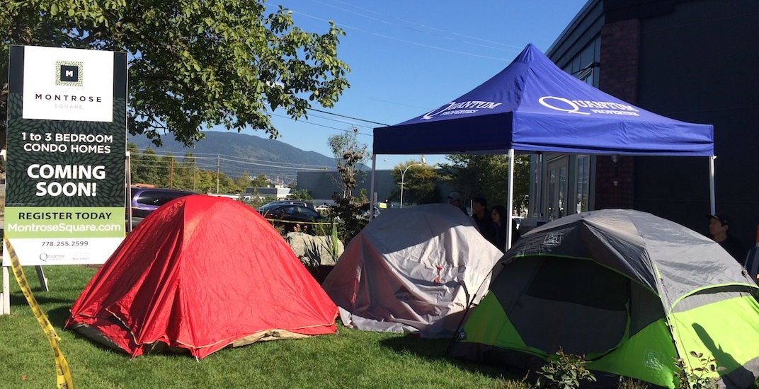 Young couple camps out for 3 days for condo pre-sale in Port Coquitlam